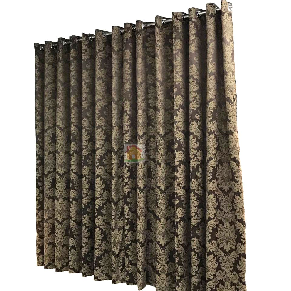 Cortina Jacquard Blackout Marrom 2,80m X 1.80m