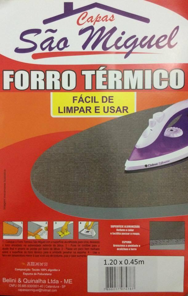 FORRO TÉRMICO PARA TÁBUA DE PASSAR ROUPA