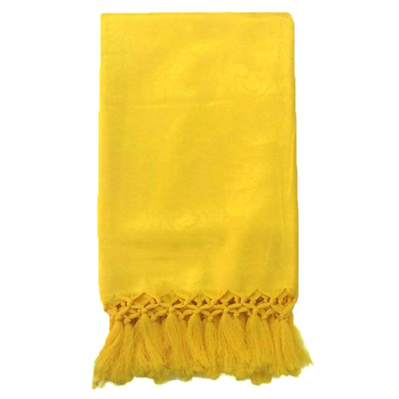 Manta de Sofá Jacquard Amarelo 190x140