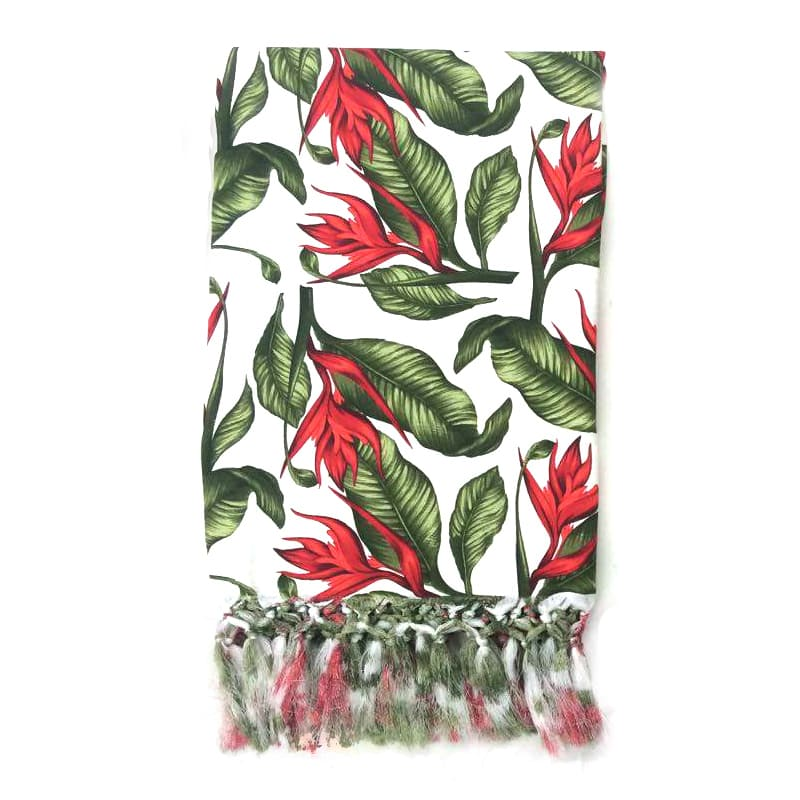 Manta de Sofá Jacquard Floral 190x140
