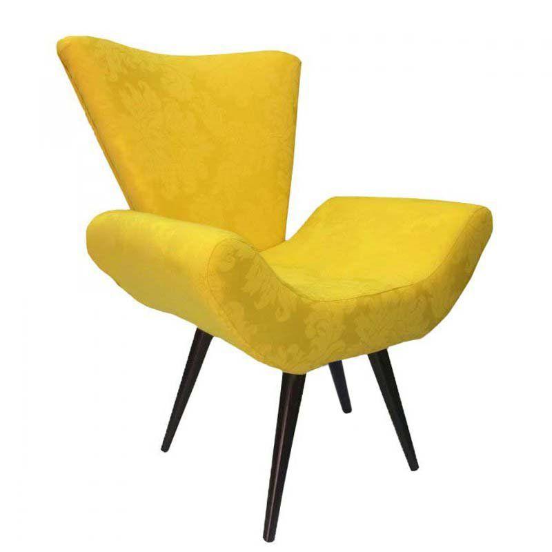 Poltrona Decorativa Elegance 13 Amarelo Ouro