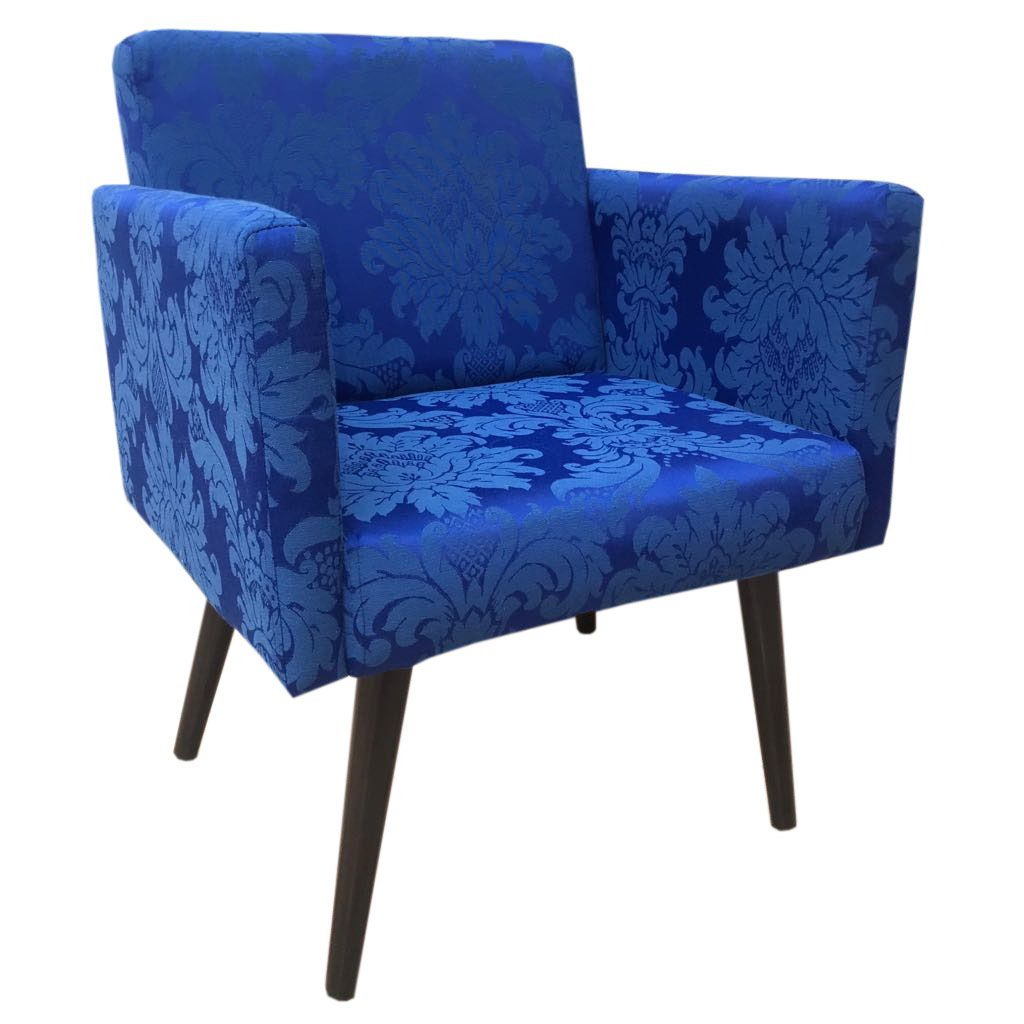 Poltrona Decorativa Nina Azul Royal
