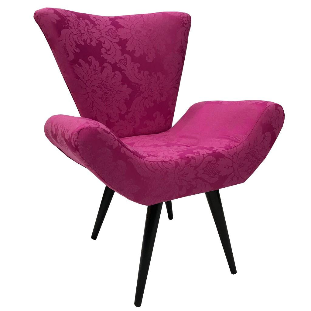 Poltrona e puff jacquard pink p palito s na sua casa for Poltrona puffo