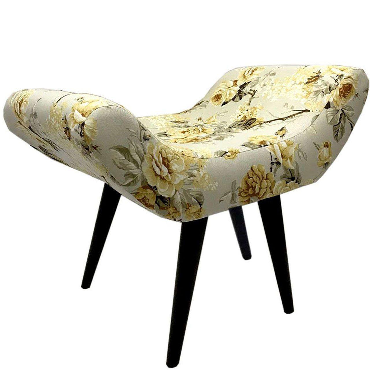 Puff Decorativo Elegance Impermeável Grace Amarelo