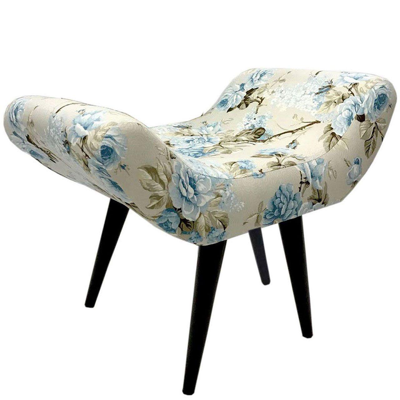 Puff Decorativo Elegance Impermeável Grace Azul