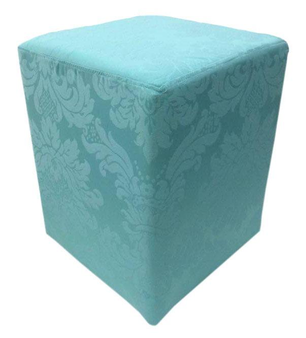 Puff Quadrado Jacquard Tiffany