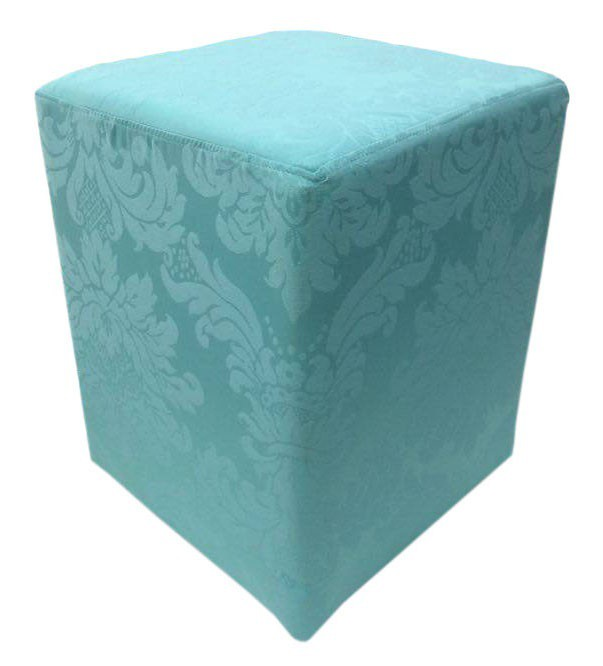 Puff Quadrado Jacquard Tiffany