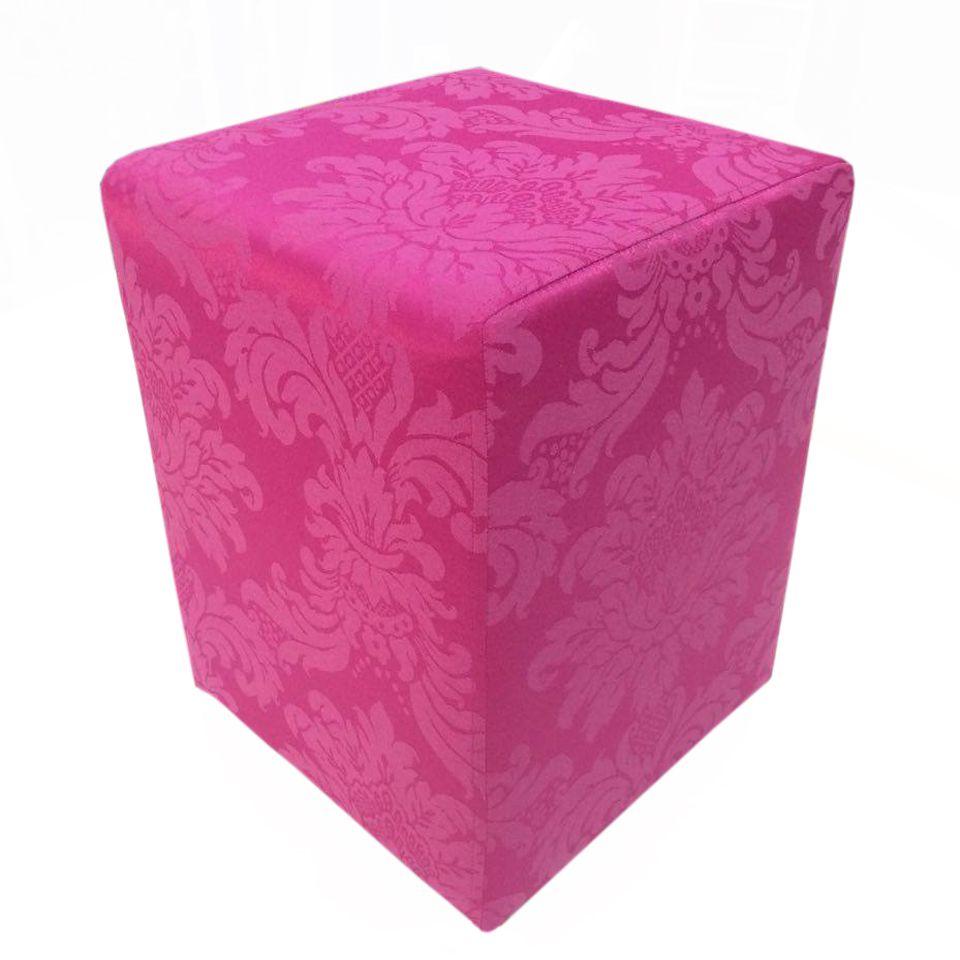 Puff Quadrado Jacquard Pink
