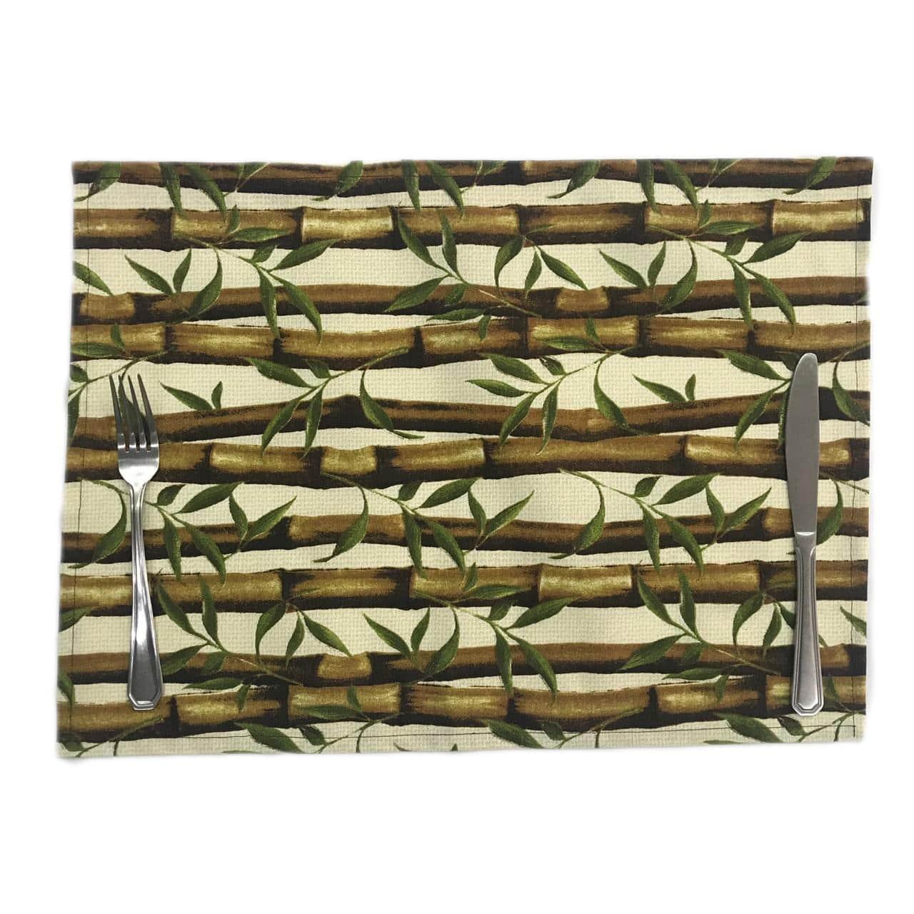 Serviço Americano Impermeável Estampado Bambú