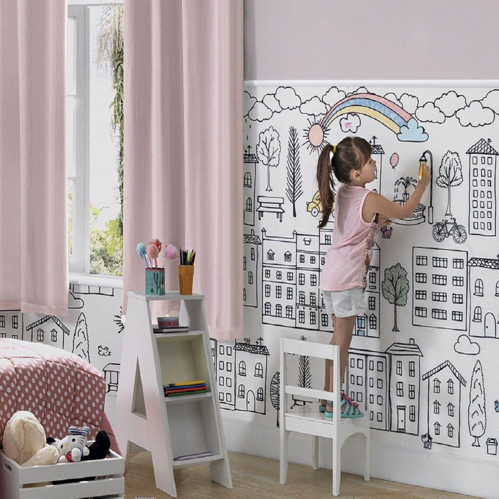 Tecido de Parede Kids Art Para Colorir - 1,44m de Largura