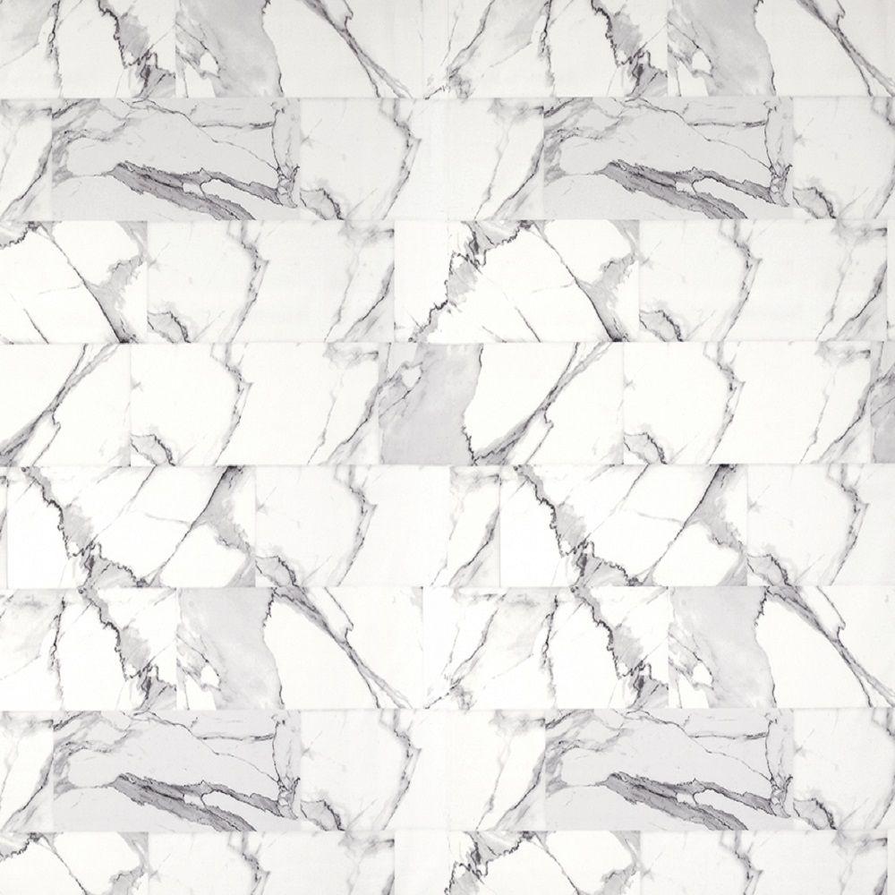 Tecido de Parede Calacata Branco - 1,44m de Largura