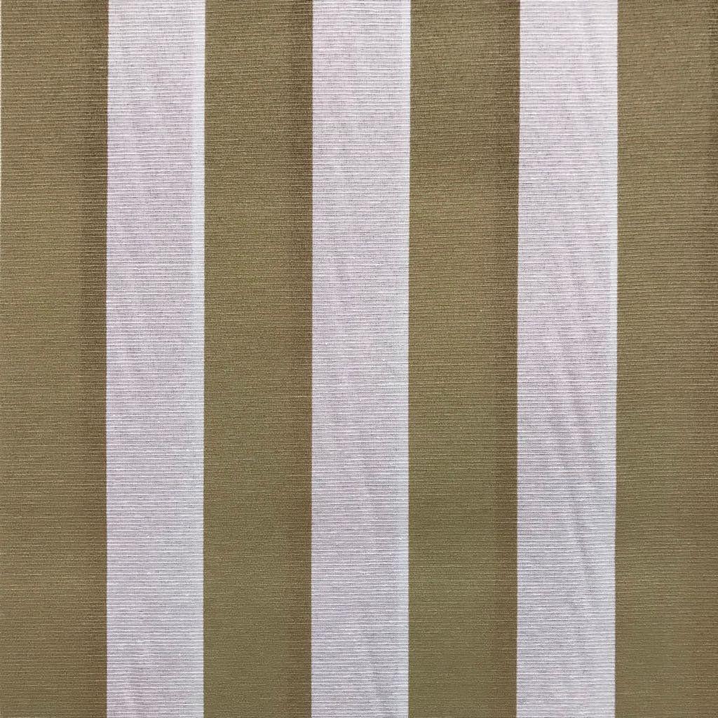 Tecido Gorgurinho Bege e Branco Listrado 1,50m de Largura