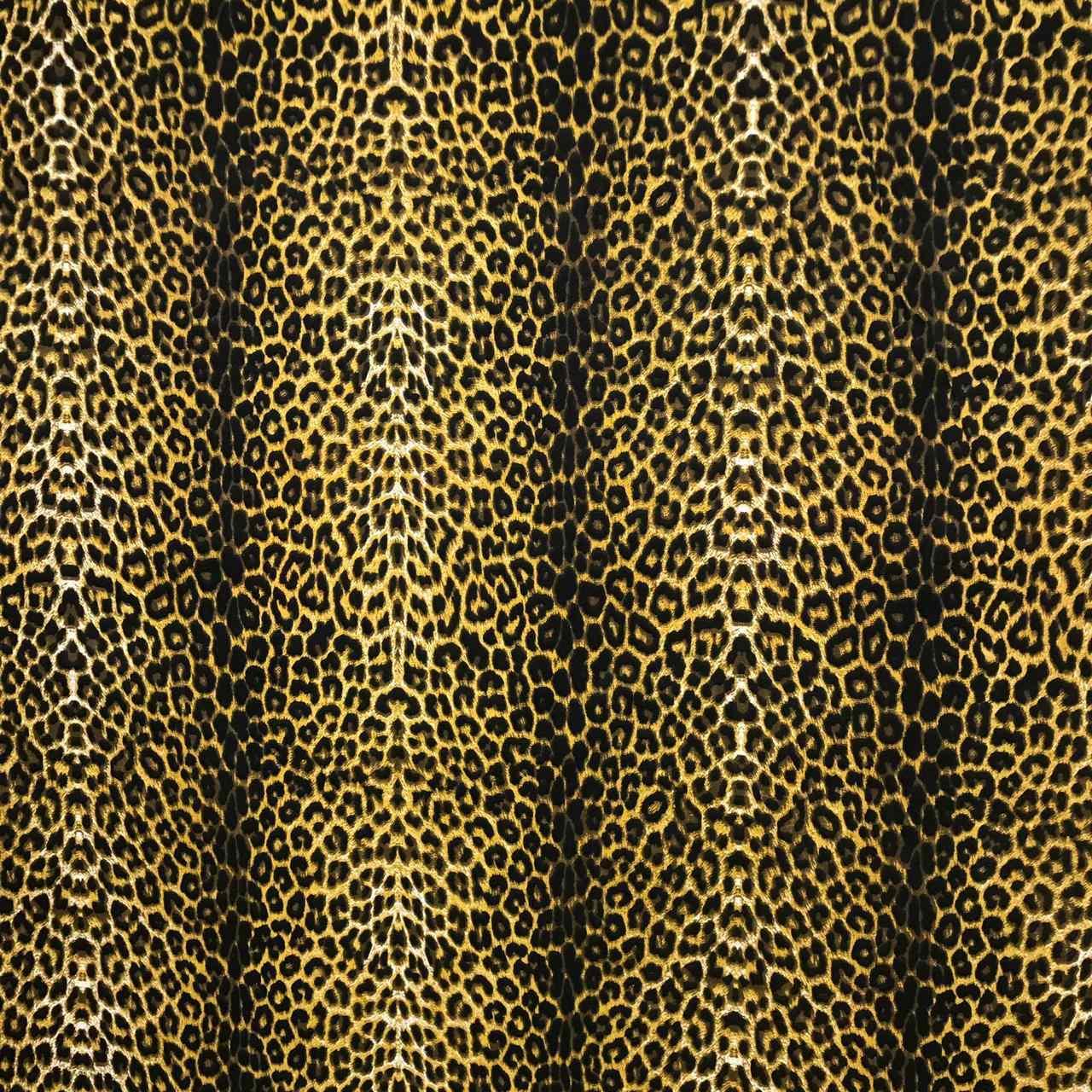Tecido Gorgurinho Estampado Onça Pintada - 1,50m de Largura