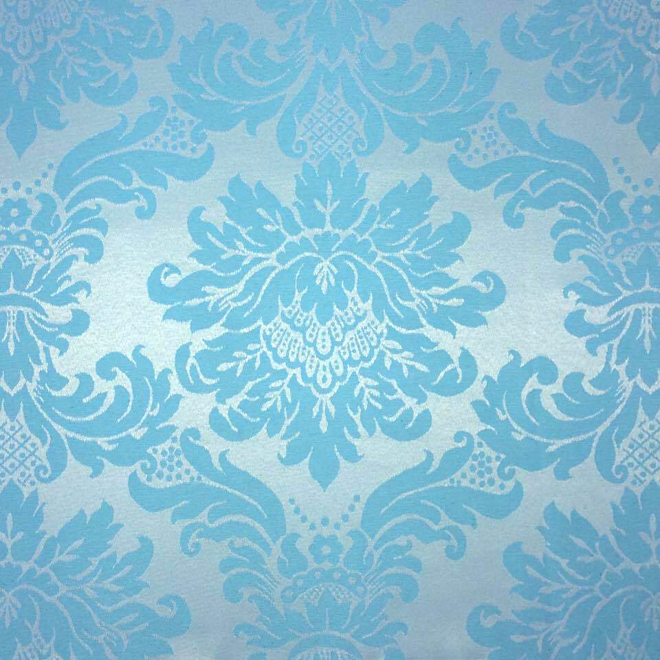 3ea3938019831 Tecido Jacquard Azul com Prata Medalhão 2.80m de Largura