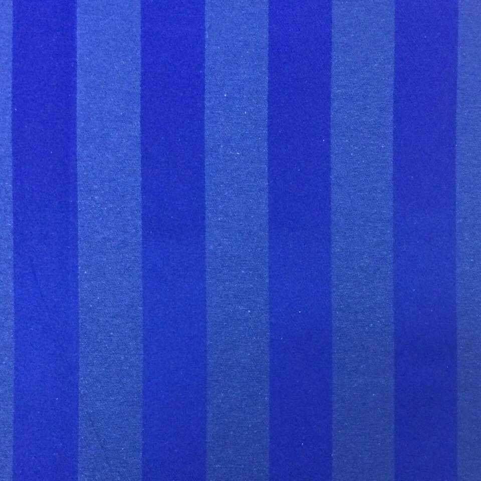 Tecido Jacquard Azul Royal Listrado 2.80m de Largura