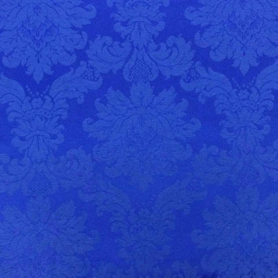 943edf7635260 Tecido Jacquard Azul Royal Medalhão 2.80mde Largura