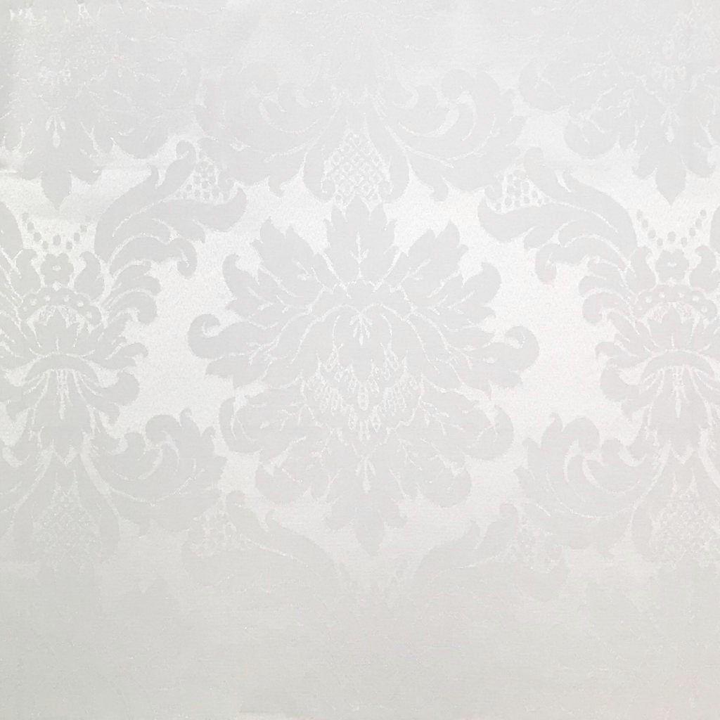 Tecido Jacquard Branco Medalhão 2.80m de Largura