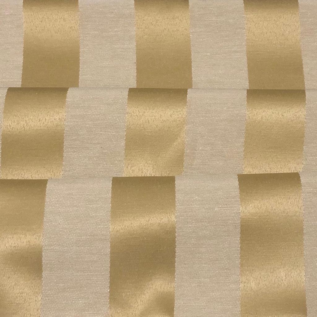 Tecido Jacquard Dourado Listrado 2.80m de Largura