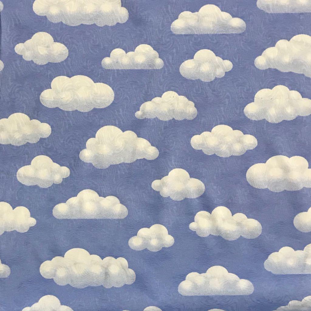 Well-known Tecido Jacquard Estampado Céu Nuvem Azul 1.40m de Largura HP87