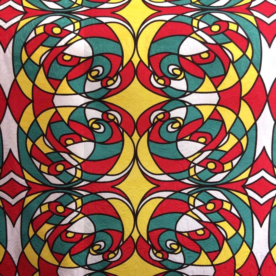 Tecido Jacquard Estampado Romero Britto - 1.40m de Largura
