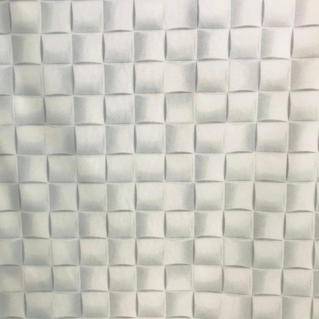 Tecido Jacquard Estampado Textura 3D Branco - 2.80m de Largura