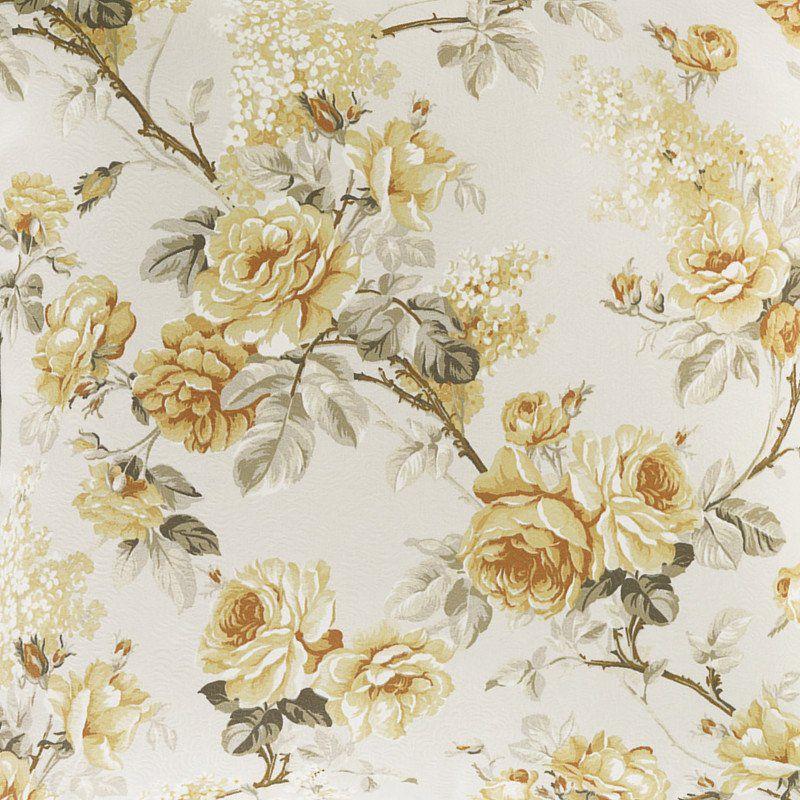 Tecido Karsten Art Decor Grace Amarelo Floral 1.40m de Largura
