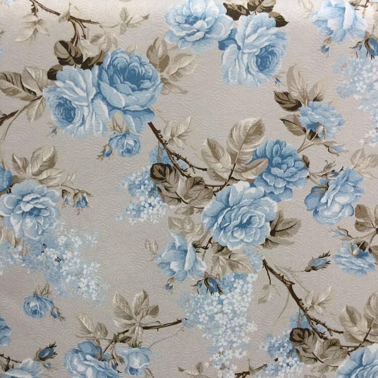 Tecido Karsten Art Decor Grace Azul 1.40m de Largura