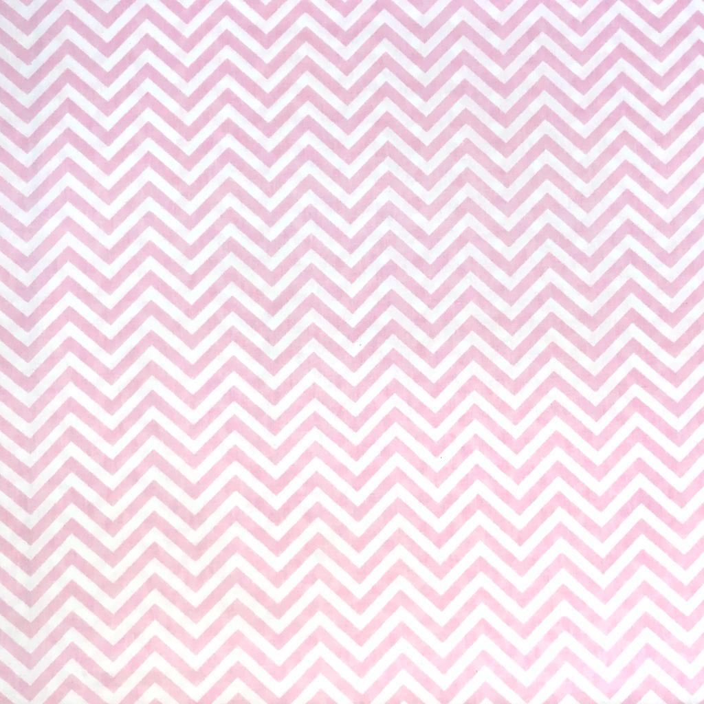 Tecido Tricoline  Chevron Rosa Bebê - 1,50m de Largura