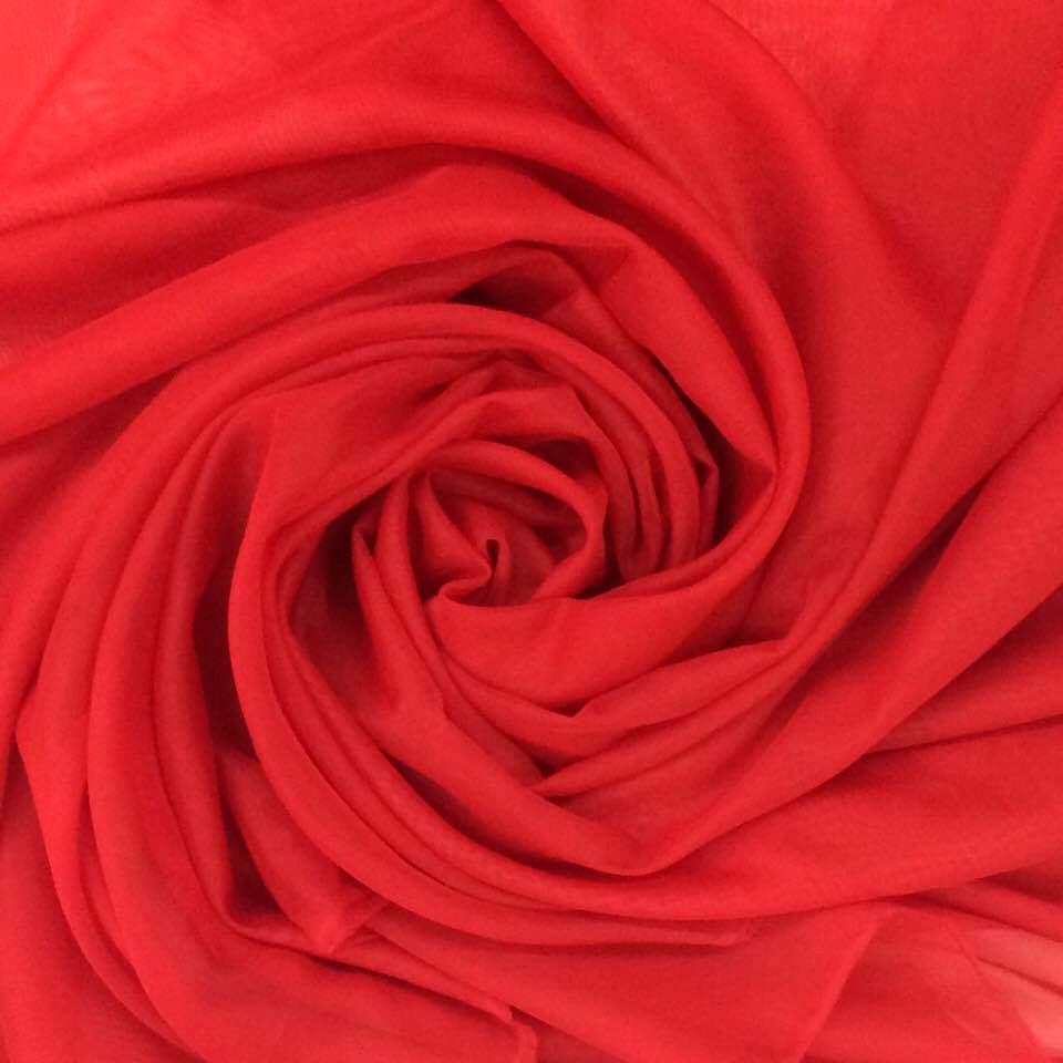 Tecido Voal Vermelho 3m de Largura