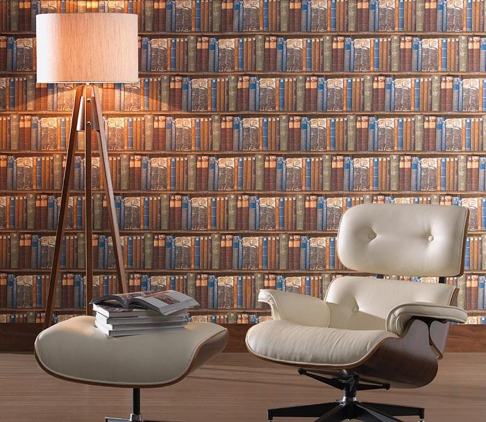 Tecido Wall Decor Books 1.40m de Largura