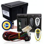 Alarme Automotivo Universal Microcontrol Com Bloqueador Antifurto + Capa Controle Branco E Amarelo