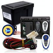 Alarme Automotivo Universal Microcontrol Com Bloqueador Antifurto + Capa Controle Branco E Azul