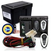 Alarme Automotivo Universal Microcontrol Com Bloqueador Antifurto + Capa Controle Branco E Cinza