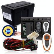 Alarme Automotivo Universal Microcontrol Com Bloqueador Antifurto + Capa Controle Branco E Laranja