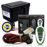Alarme Automotivo Universal Microcontrol Com Bloqueador Antifurto + Capa Controle Branco E Verde