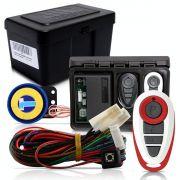 Alarme Automotivo Universal Microcontrol Com Bloqueador Antifurto + Capa Controle Branco E Vermelho