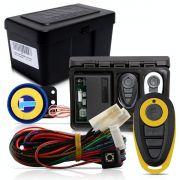 Alarme Automotivo Universal Microcontrol Com Bloqueador Antifurto + Capa Controle Preto E Amarelo