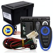 Alarme Automotivo Universal Microcontrol Com Bloqueador Antifurto + Capa Controle Preto E Azul