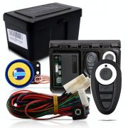 Alarme Automotivo Universal Microcontrol Com Bloqueador Antifurto + Capa Controle Preto E Branco