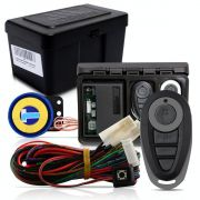 Alarme Automotivo Universal Microcontrol Com Bloqueador Antifurto + Capa Controle Preto E Cinza