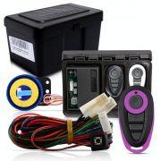 Alarme Automotivo Universal Microcontrol Com Bloqueador Antifurto + Capa Controle Preto E Lilás