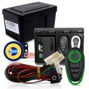 Alarme Automotivo Universal Microcontrol Com Bloqueador Antifurto + Capa Controle Preto E Verde