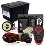 Alarme Automotivo Universal Microcontrol Com Bloqueador Antifurto + Capa Controle Preto E Vermelho
