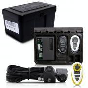 Alarme Automotivo Universal Travamento Negativo Bloqueador Antifurto + Capa Controle Branco Amarelo