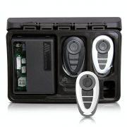 Alarme Automotivo Universal Travamento Negativo Bloqueador Antifurto + Capa Controle Branco Cinza