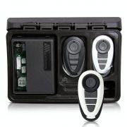 Alarme Automotivo Universal Travamento Negativo Bloqueador Antifurto + Capa Controle Branco Preto