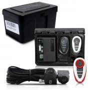 Alarme Automotivo Universal Travamento Negativo Bloqueador Antifurto + Capa Controle Branco Vermelha