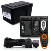 Alarme Automotivo Universal Travamento Negativo Bloqueador Antifurto + Capa Controle Preto Laranja