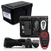 Alarme Automotivo Universal Travamento Negativo Bloqueador Antifurto + Capa Controle Preto Vermelho