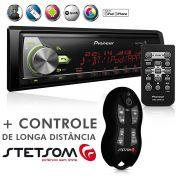 Auto Radio Mixtrax MVH-X588BT Usb Mp3 Bluetooth Android IOS + Controle Longa Distância SX2 Preto